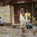 Cuba Gooding Jr. (foreground) and Josh McLerran (background, yellow shirt) star in DADDY DAY CAMP, a TriStar Pictures release. Photo credit: Susie Ramos
