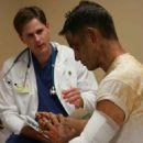 Caleb (Kirk Cameron) at hospital.