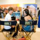 Vanessa Hudgens and Zac Efron on the set of HIGH SCHOOL MUSICAL 3 SENIOR YEAR.