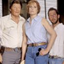 The three counselors of Camp Green Lake – Mr. Sir (Jon Voight, left), The Warden (Sigourney Weaver, center) and Dr. Pendanski (Tim Blake Nelson, right) – look a little worse for wear