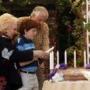 Doris Roberts as Rose Fiedler, Daryl Sabara as Benjamin Fiedler, Garry Marshall as Irwin Fiedler in Miramax Films' Keeping Up With The Steins - 2006. Photo credit: Michael Yarish