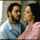 Raul Julia as Valentin Arregui with Sonia Braga as Spider Woman in City Lights Pictures' Kiss of the Spider Woman.
