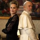 Sharon Stone and John Malkovich in The New Pope (2019) - 454 x 457