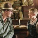 Michael Caine (left) as 'Garth' and Haley Joel Osment (right) as 'Walter' in New Line Cinema's upcoming film Secondhand Lions.