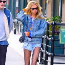 Stella Maxwell in Denim Shorts – Out in New York City - 454 x 717