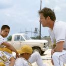 Chad Lindberg, Jay Hernandez and Dennis Quaid in Walt Disney's The Rookie - 2002