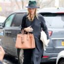 Rosie Huntington-Whiteley was seen holding her pregnant belly while shopping at ABC Carpet & Home store in New York City, New York on April 6, 2017