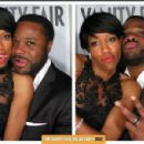 Regina King, malcolm-jamal warner from the 2012 Vanity Fair Oscar Party Booth