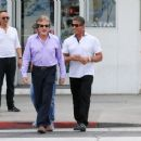 Sylvester Stallone goes for a stroll with friends in Beverly Hills on April 6, 2016 - 454 x 367