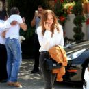 Stella Banderas has lunch with her father Antonio Banderas in Beverly Hills