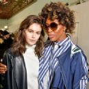 Kaia Gerber and Naomi Campbell – Backstage Sacai Fashion Show in Paris