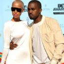 Kanye West and Amber Rose arrive at the 2009 BET Awards held at the Shrine Auditorium in Los Angeles, California - June 28, 2009