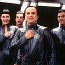 The Thermians - Missi Pyle, Patrick Breen, Enrico Colantoni and Jed Rees in Dreamworks' Galaxy Quest - 12/99