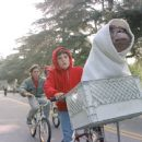 Elliott (Henry Thomas), his brother and friends ride as fast as they can to get E.T. back to the forest in Universal's E.T. The Extra-Terrestrial - 1982