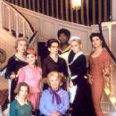 Catherine Deneuve (far left), Virginie Ledoyen (left), Ludivine Sagnier (bottom left), Danielle Darrieux (bottom center), Isabelle Huppert (middle center), Firmine Richard (top center), Emmanuelle Beart (right) and Fanny Ardant (far right) in Focus Films& - 268 x 400