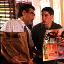 After the infamous pie incident, Eugene Levy decides to have THE talk with Jason Biggs in Universal's American Pie - 1999