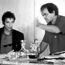 Cameron Diaz, Al Pacino and director Oliver Stone on the set of Warner Brothers' Any Given Sunday - 12/99