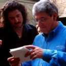 Brendan Fraser and director Harold Ramis in 20th Century Fox's Bedazzled - 2000