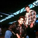 Adam Garcia as Sean Okden and Sam Worthington as Mitchell in Fox Searchlight's Bootmen - 2000 - 254 x 400