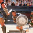 Maximus (Russell Crowe) must fight for his life against the ferocious gladiator known as Tiger in Dreamworks' Gladiator - 5/2000