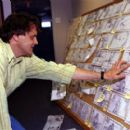 Director Chris Wedge checks the storyboards of 20th Century Fox's Ice Age - 2002 - 400 x 269