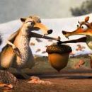 Scrat (voice by Chris Wedge) and Scratte in the scene of Ice Age: Dawn of the Dinosaurs. - 422 x 192