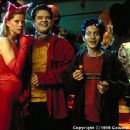 Katie Wright, Elden Henson and Seth Green at a party in Columbia's Idle Hands - 1999