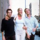 Ben Stiller (left) as Jake Schram, Jenna Elfman (center) as Anna Reilly, and Edward Norton as Brian Finn, all childhood friends who as adults re-enter each others' lives -- and hearts in Touchstone's Keeping the Faith - 2000