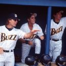 Scott Bakula, Walton Goggins and Takaaki Ishibashi in Warner Brothers' Major League: Back To The Minors - 1998
