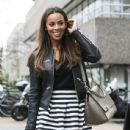 Rochelle Humes is pictured leaving the ITV studios following a guest appearance on 'Lorraine' - 437 x 600