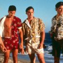 Nick Cornish, Andrew Levitas, Nicholas Brendon and Thomas Gibson in Strand's Psycho Beach Party - 2000 - 400 x 268