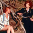 Lauren Ambrose as Chicklet and Charles Busch as Captain Monica Stark in Strand's Psycho Beach Party - 2000