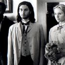 Jeffrey Wright, Tobey Maguire and Jewel in Universal's Ride With The Devil - 12/99