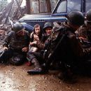 Tom Sizemore, Jeremy Davies, Barry Pepper and Tom Hanks in Dreamworks' Saving Private Ryan - 7/98