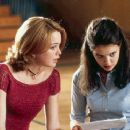 Marisa Coughlan and Katie Holmes in Teaching Mrs. Tingle - 8/99