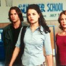 Barry Watson, Katie Holmes and Marisa Coughlan in Teaching Mrs. Tingle - 8/99