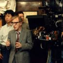 Woody Allen, the writer, director and star, on the set of Dreamworks' The Curse of the Jade Scorpion - 2001