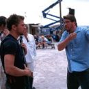 Ryan Phillippe and director Christopher McQuarrie on the set of Artisan's The Way Of The Gun - 2000