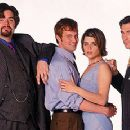Oliver Platt, Matthew Perry, Neve Campbell and Dylan McDermott in Warner Brothers' Three To Tango - 10/99