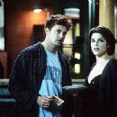 Matthew Perry and Neve Campbell in Warner Brothers' Three To Tango - 10/99