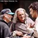 Director Martin Campbell, Anthony Hopkins and Antonio Banderas on the set of Tristar's The Mask of Zorro - 1998