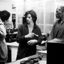 Don McKellar, director Francois Girard and Samuel L. Jackson on the set of The Red Violin
