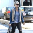 Kaley Cuoco In Ripped Jeans Out In La