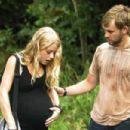 Emilie De Ravin is Claire and Dominic Monaghan is Charlie on Lost. - 454 x 302