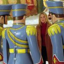 Elizabeth Mitchell as Carol encountering the tin soldiers in Disney's The Santa Clause 2 - 2002