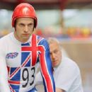 Jonny Lee Miller as Graeme Obree in The Flying Scotsman. Photo Credit: Distributed by MGM Distribution Co. All Rights Reserved.