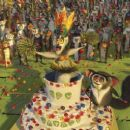 """(Left to right) The zoosters receive a very special goodbye from King Julien (SACHA BARON COHEN) and Maurice (CEDRIC THE ENTERTAINER) in DreamWorks' """"Madagascar: Escape 2 Africa,"""" which will be distributed by Paramount Pictures in Novemb"""