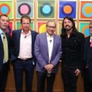 Will Lewis, CEO Dow Jones Company Inc, Trevor Fellows WSJ, comedian Lewis Black, musician Dave Grohl and Matt Scheckner, President and CEO Stillwell Partners attend the WSJ Disruption Dinner on September 29, 2014 in New York City - 454 x 303