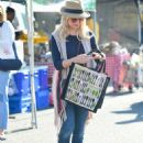 Jessica Collins – Seen at Farmer's Market in Los Angeles - 454 x 621