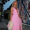 Paris Hilton – Dons Givenchy pink dress in West Hollywood